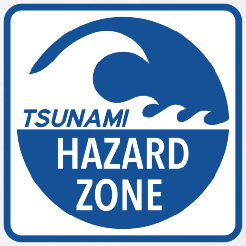 Tsunami Hazard Zone - Men's T-Shirt