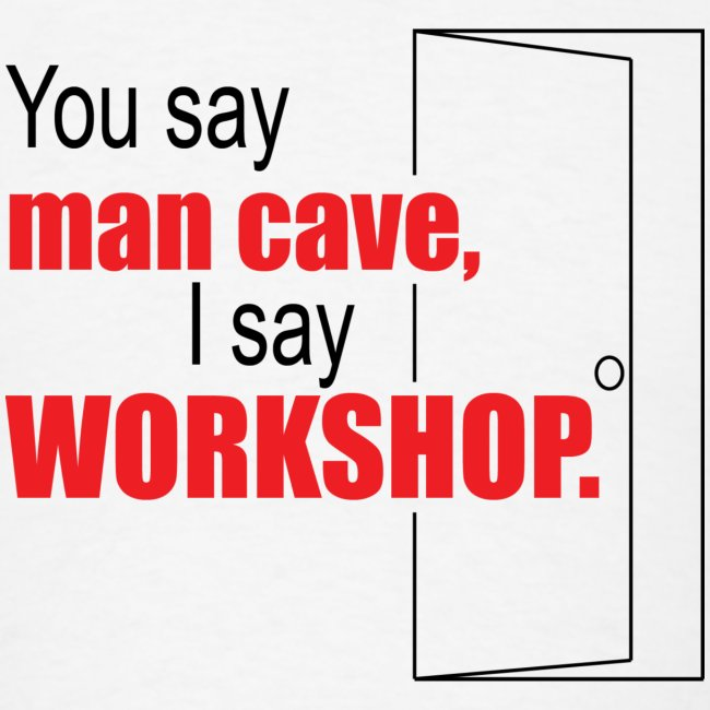 You say man cave I say workshop