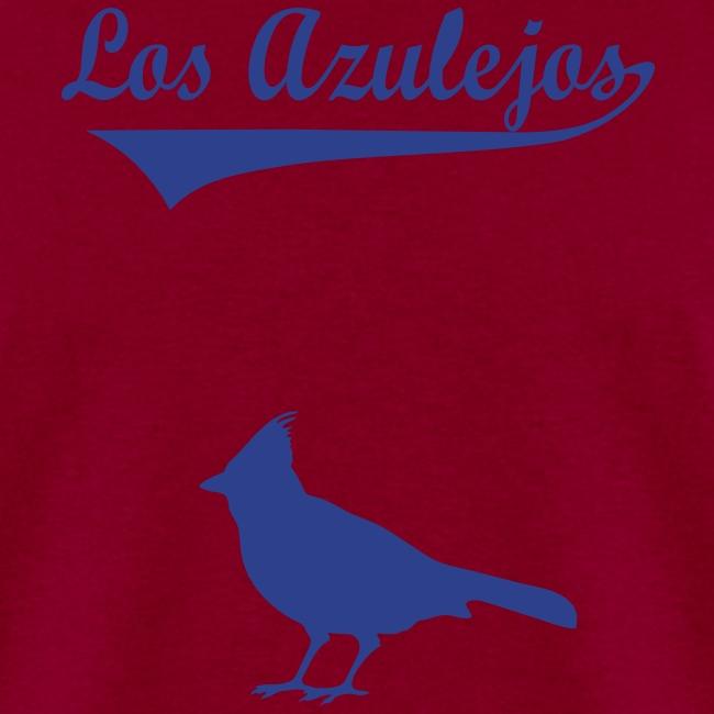 los azulejos text in dark blue 2