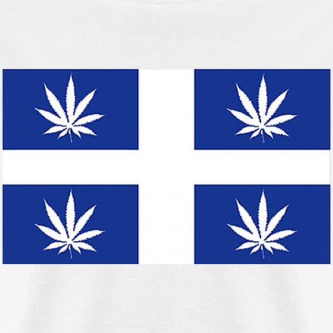 Drapeau Quebec pot