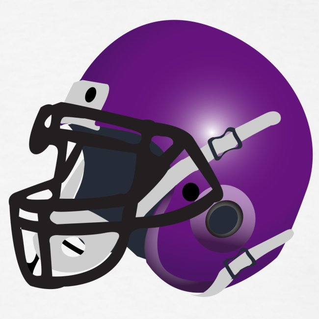purple footbal lhelmet