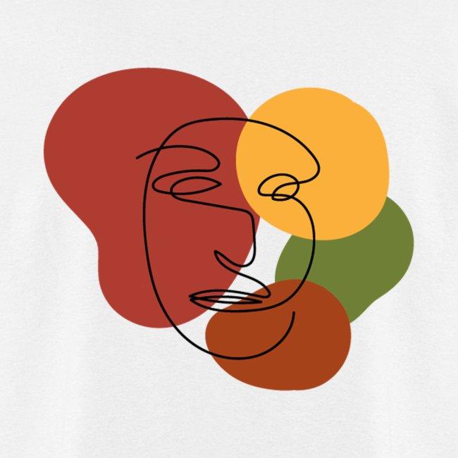 abstract minimalist face