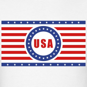 USA Flag Horizontal - Men's T-Shirt