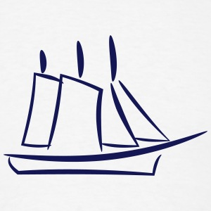 Ship and Sail - Men's T-Shirt