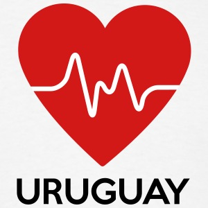 Heart Uruguay - Men's T-Shirt