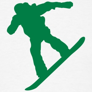 snow boarder silhouette 7 - Men's T-Shirt