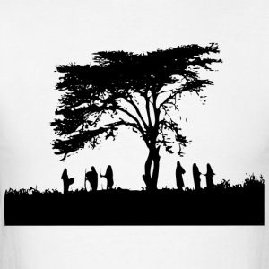 TREE AND PEOPLE SHADOW - Men's T-Shirt
