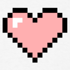 Heart Pink Pixels - Men's T-Shirt