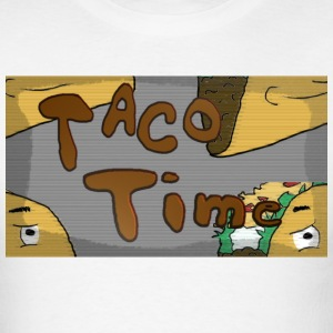 Taco_Time_Semi_Trans - Men's T-Shirt