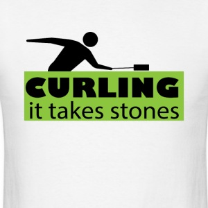 Curling It Takes stones Funny Curler Tee Shirt - Men's T-Shirt