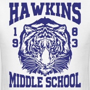Hawkins Middle School 1983 Tiger - Men's T-Shirt