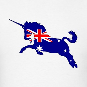 Australian Flag - Unicorn - Men's T-Shirt