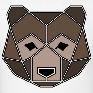Geometric Animal: Grizzly Bear - Men's T-Shirt