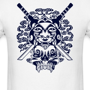 Samurai Mask and Skull - Men's T-Shirt