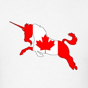 Canada Flag Unicorn - Men's T-Shirt