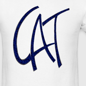 Dave The Cat Blue Logo - Men's T-Shirt