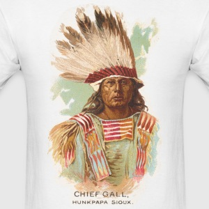 Native American Historical Art Chief Gall - Men's T-Shirt