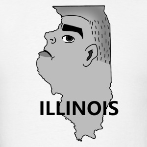 A funny map of Illinois 2 - Men's T-Shirt