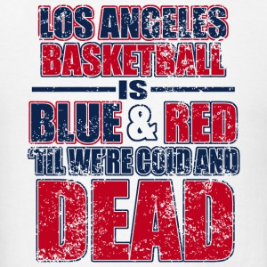 Los angeles - los angeles basketball is blue and - Men's T-Shirt