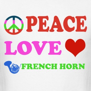 Peace love French Horns - Men's T-Shirt