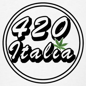 420 Family Italy Cannabis Leaf - Men's T-Shirt