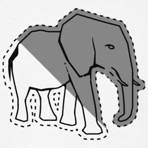 Elephant sticker - Men's T-Shirt