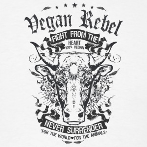 Vegan Rebel Black Edition - Men's T-Shirt
