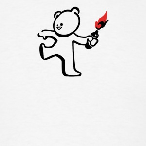 Banksy Molotov Cocktail Terrorist Teddy Ted Men - Men's T-Shirt