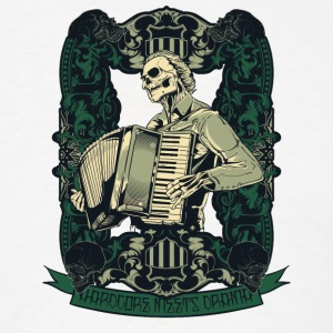 skull with accordion - Men's T-Shirt