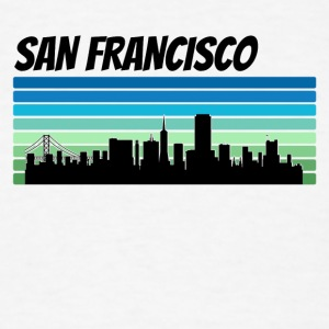Retro San Francisco Skyline - Men's T-Shirt