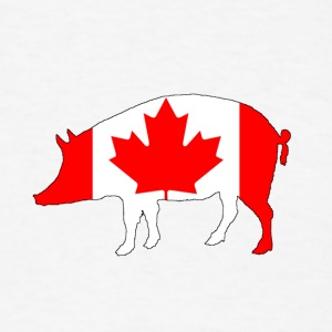 Canada Flag - Pig - Men's T-Shirt