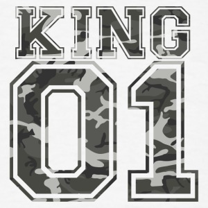 King_01_camo_1 - Men's T-Shirt