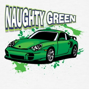 Naughty_Green_porsche - Men's T-Shirt