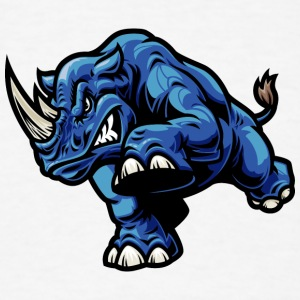 blue_rhinoceros - Men's T-Shirt