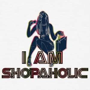 I_am_shopaholic_black - Men's T-Shirt