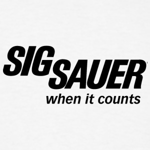 sig sauer when it counts logo - Men's T-Shirt