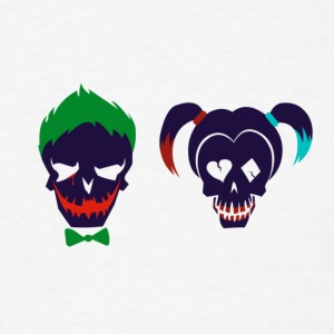 Harley quinn and Joker from suicide squad - Men's T-Shirt