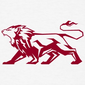 attacking_lion_dark_red - Men's T-Shirt