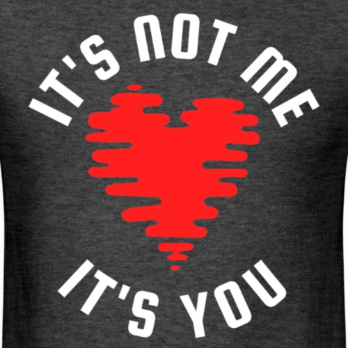 It's Not Me | White Red - Men's T-Shirt