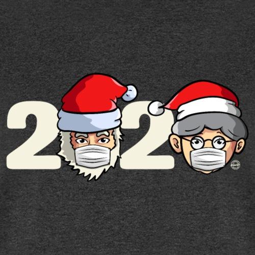Christmas 2020 Santa Claus And Mrs. Claus w/ Masks - Men's T-Shirt