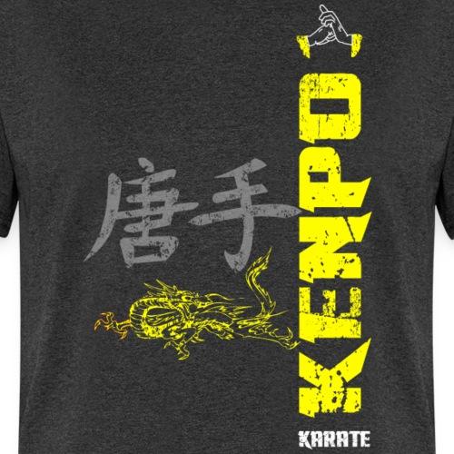 vertical kenpo with chinese kanji dragon yellow - Men's T-Shirt