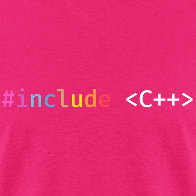 Rainbow Include C++ (Dark Background)
