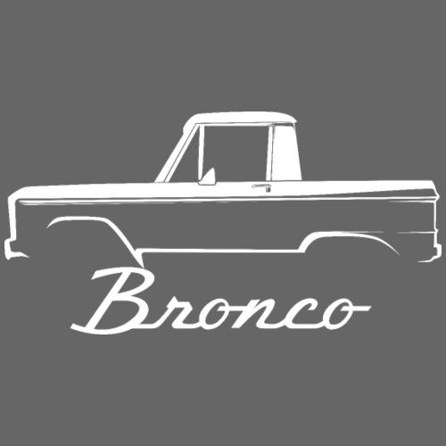 1968 Bronco Half Cab White Line Art - Men's T-Shirt