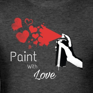 valentines day shirt with paint spray and hearts - Men's T-Shirt