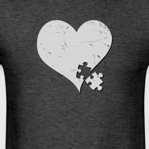 Autism Awareness Heart with Puzzle Piece - Men's T-Shirt