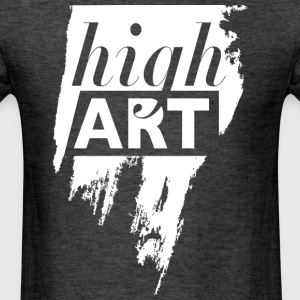 high art. negative space in a brush stroke. - Men's T-Shirt