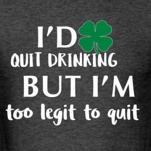 St Patrick's day drinking design - Men's T-Shirt