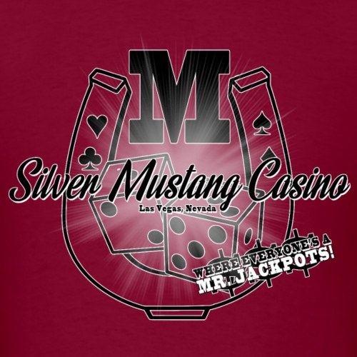 Silver Mustang Casino Mr Jackpots - Men's T-Shirt