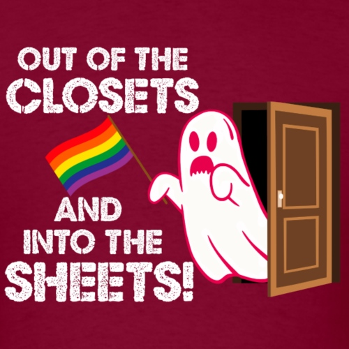 Out of the Closets Pride Ghost - Men's T-Shirt