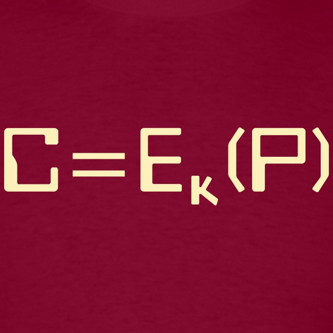 Ciphertext equals encrypted plaintext